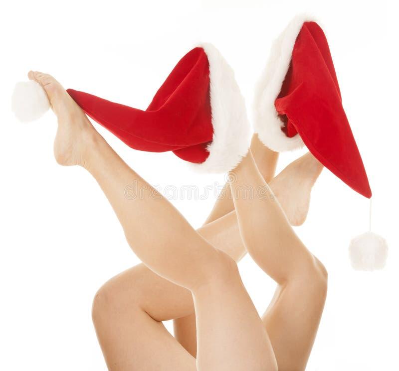 Download Udziały Nogi Santa Kapelusze Zdjęcie Stock - Obraz złożonej z nogi, noga: 28962608