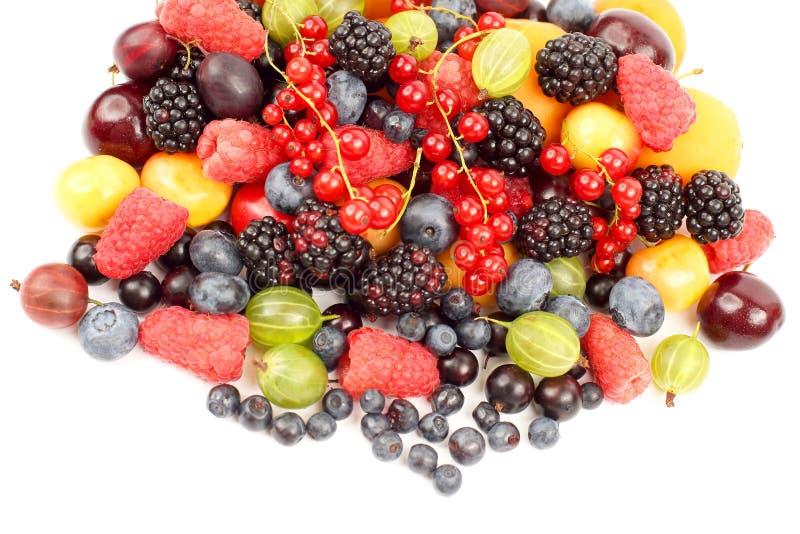 Udzia?y ?wie?e r??ne jagody po?ytecznie witaminy zdrowy jedzenie fotografia stock