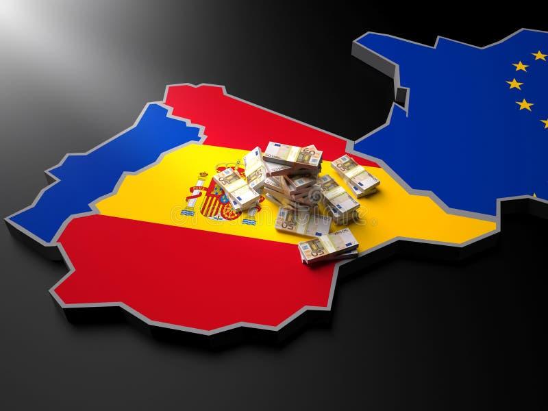 UE的西班牙 向量例证
