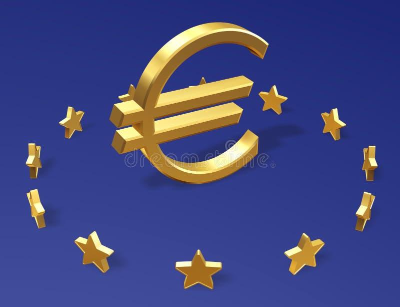 A UE assina ilustração stock