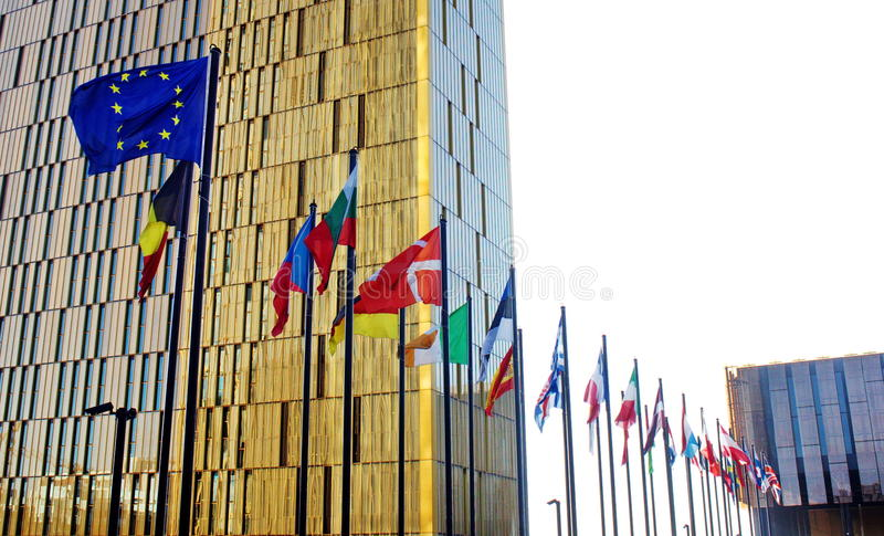 UE członków flaga zdjęcie stock