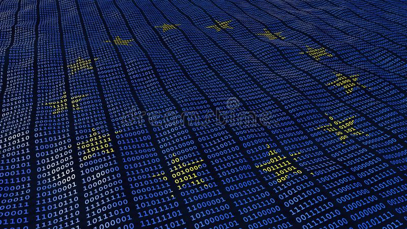 UE dane ochrony GDPR bajty i kawałki ilustracji