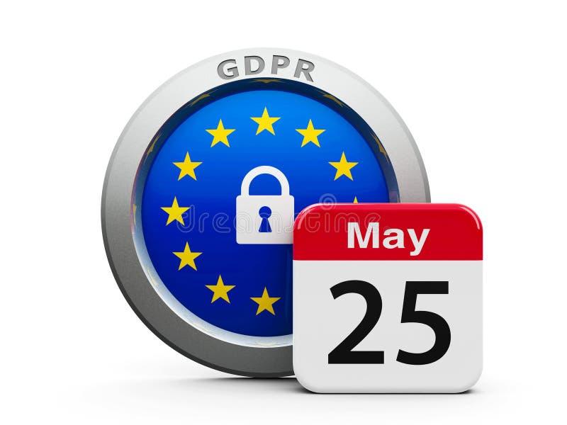 UE 2 de jour de GDPR illustration de vecteur
