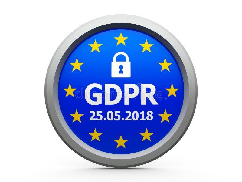 UE 2 de jour de GDPR illustration stock