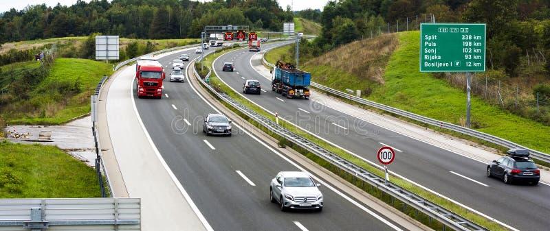 UE de route photo stock