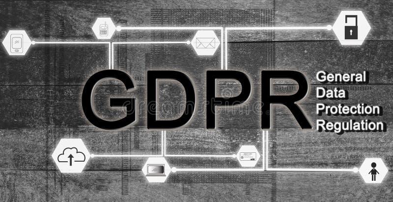 UE del concepto GDPR de la protección de datos, y seguridad de usar el informa fotos de archivo