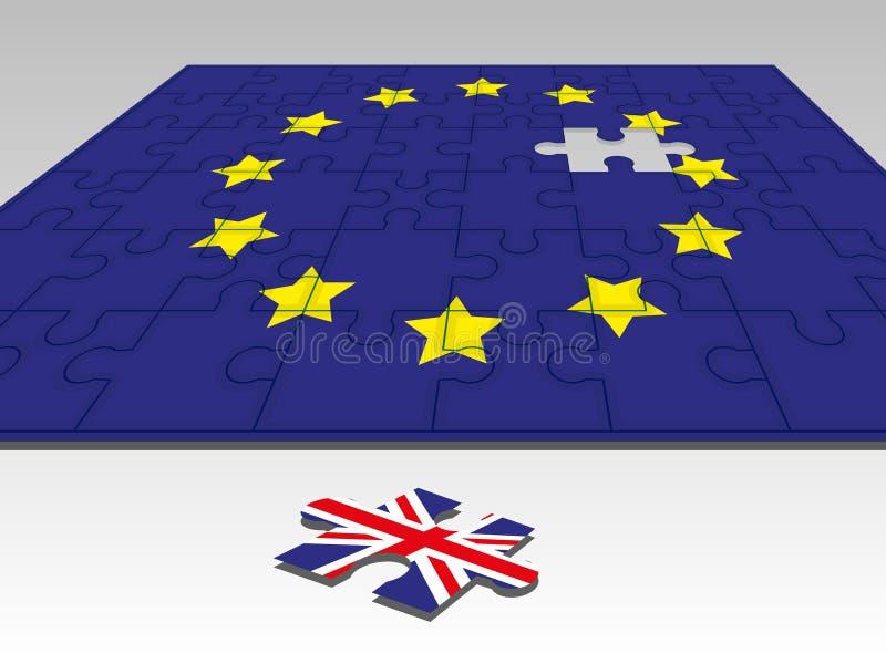 UE do enigma ilustração royalty free
