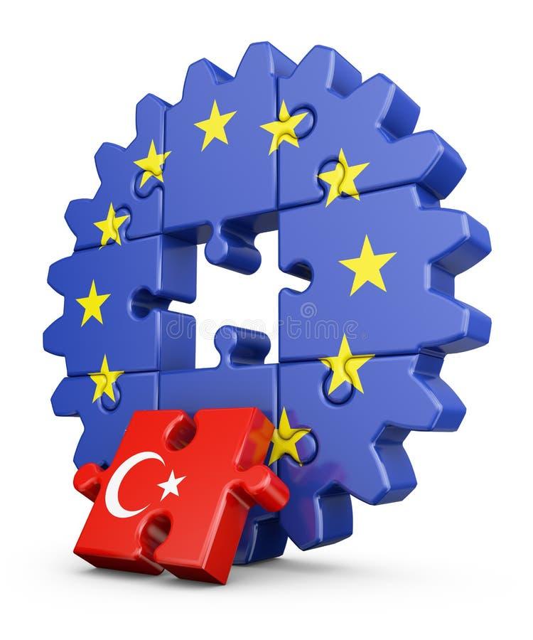 UE do enigma e Turquia ilustração stock