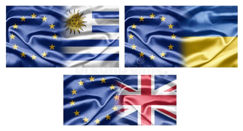 UE e paesi illustrazione di stock