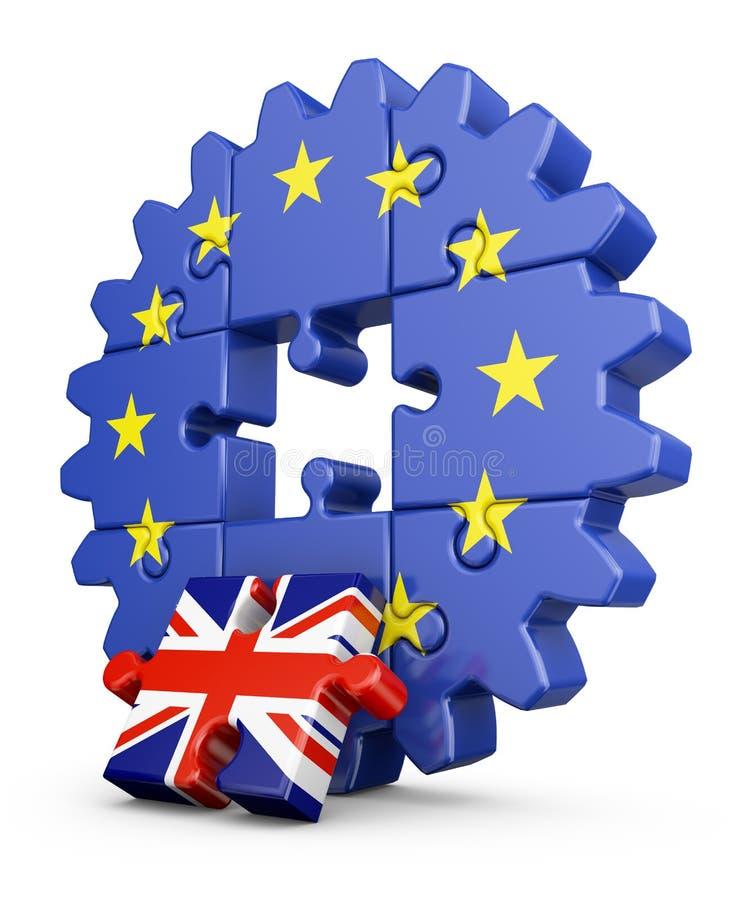 UE e Reino Unido do enigma ilustração do vetor