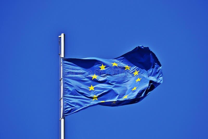 A UE embandeira foto de stock