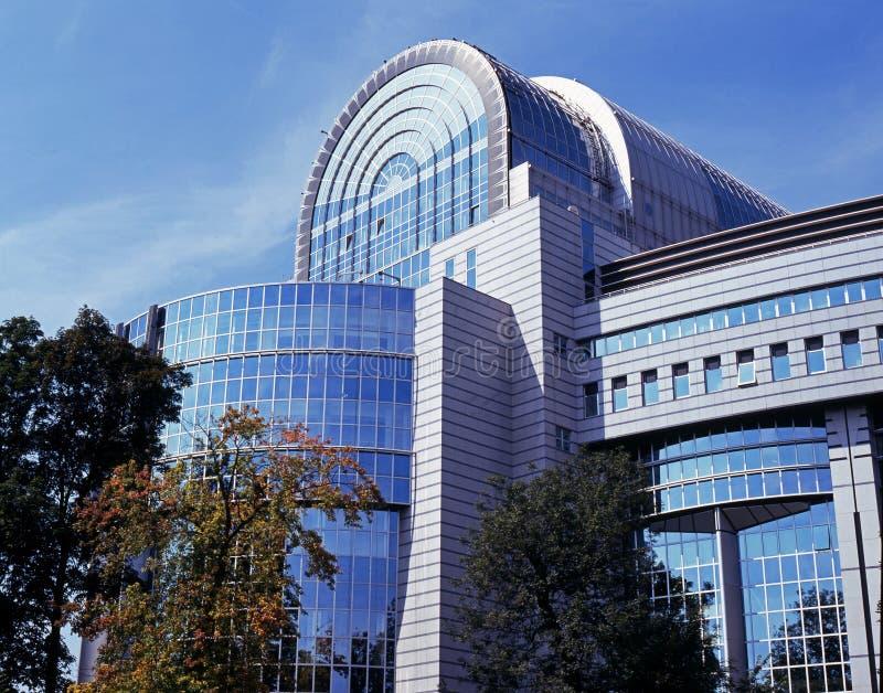 UE parlamentu budynek, Bruksela zdjęcia stock