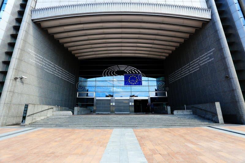 UE parlamentu budynek w Belgia fotografia royalty free
