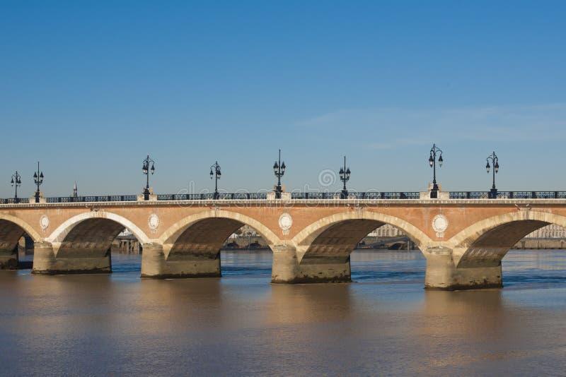 Pont du Pierre, Bordéus fotos de stock royalty free