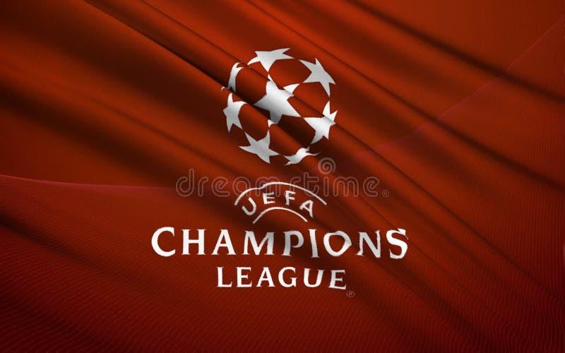 UEFA旗子  向量例证