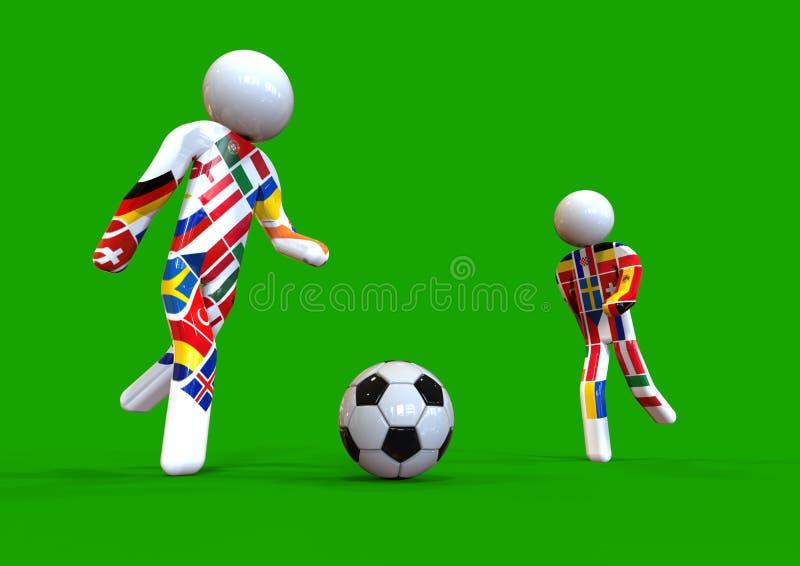 UEFA足球运动员概念 皇族释放例证