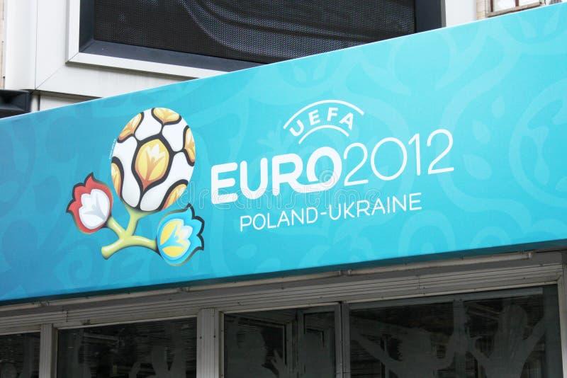 UEFA Ουκρανία της Πολωνίας του 2012 ευρο- στοκ εικόνα