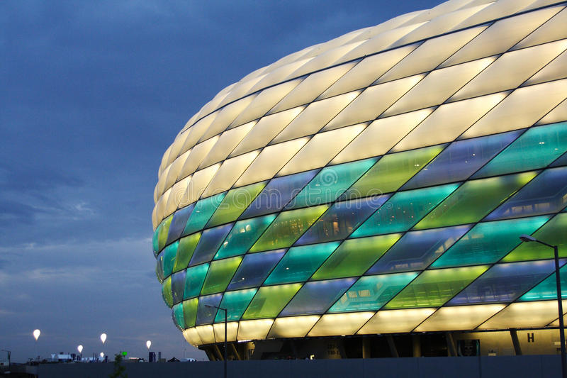 UEFA Champions League -- Allianz Arena. Munich's Allianz Arena during the UEFA Champions League Final stock photos