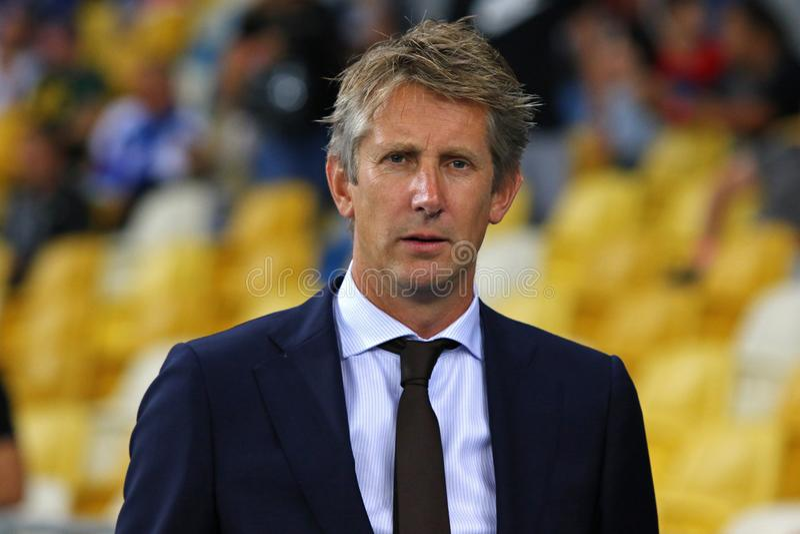 UEFA champions league dogranie: FC dynamo Kyiv v Ajax zdjęcia royalty free