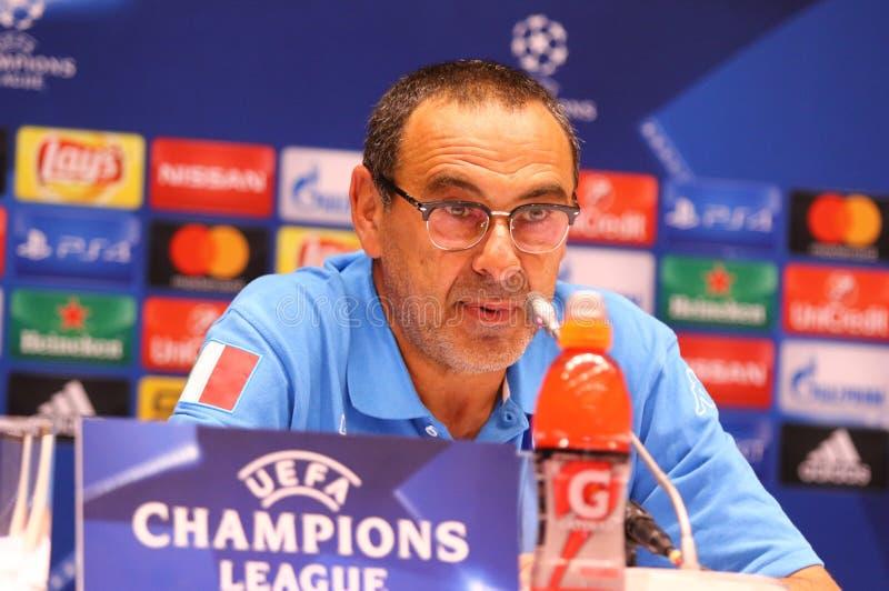 UEFA champions league dynamo Kyiv v Napoli: Dopasowanie prasa zdjęcia royalty free