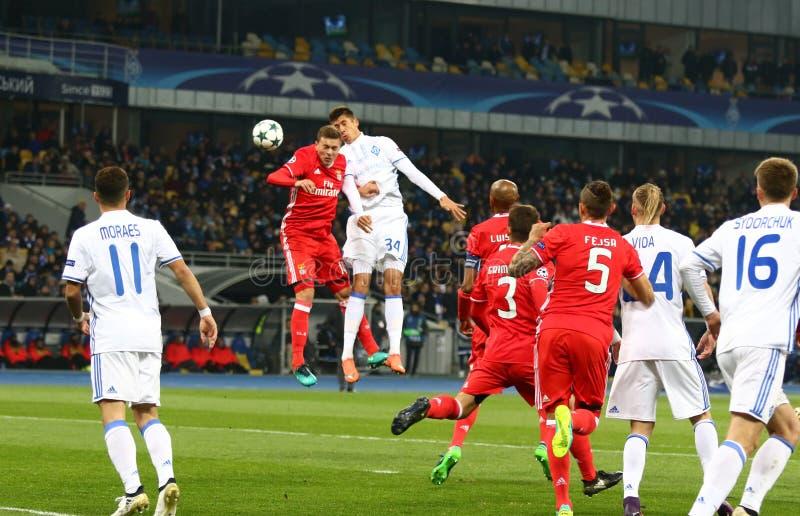 UEFA champions league: FC dynamo Kyiv v Benfica zdjęcie royalty free