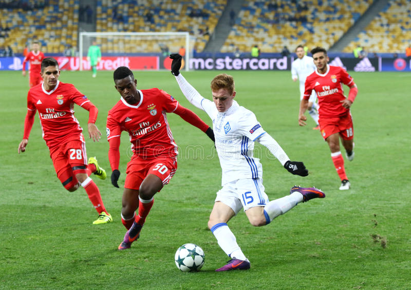 UEFA champions league: FC dynamo Kyiv v Benfica fotografia royalty free