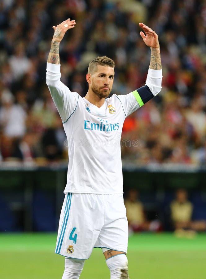 UEFA champions league finał 2018 Real Madrid v Liverpool obrazy stock