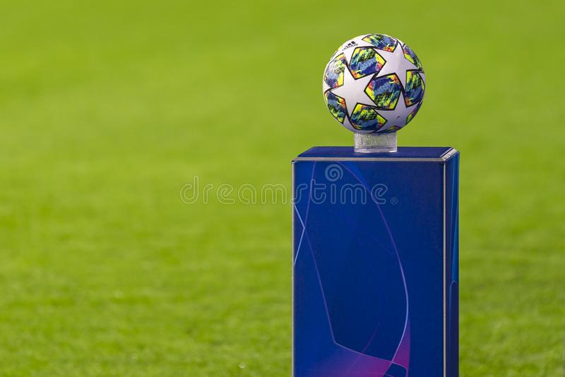 The UEFA Champions League game at RZD ARENA, Lokomotiv Moscow-Juventus Turin royalty free stock image