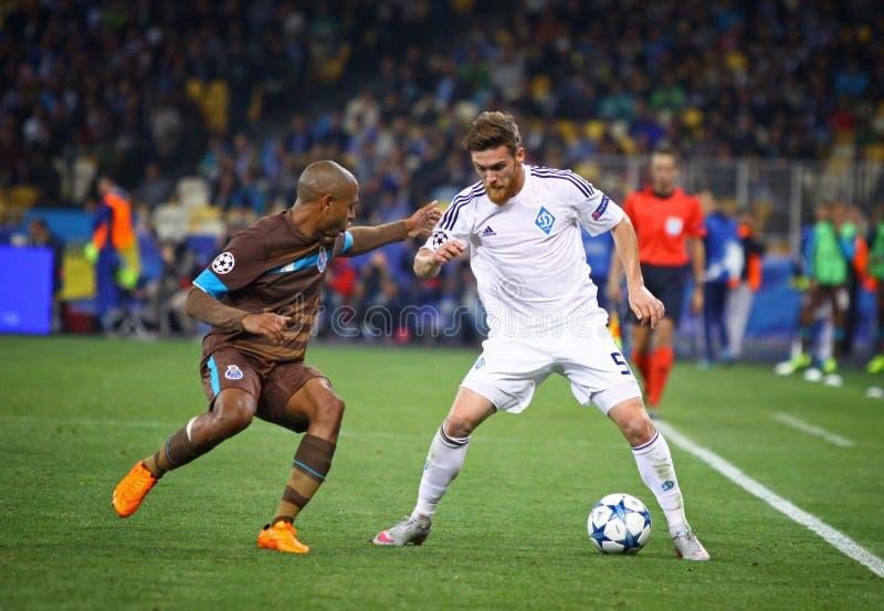 UEFA champions league gemowy dynamo Kyiv vs Porto zdjęcie royalty free