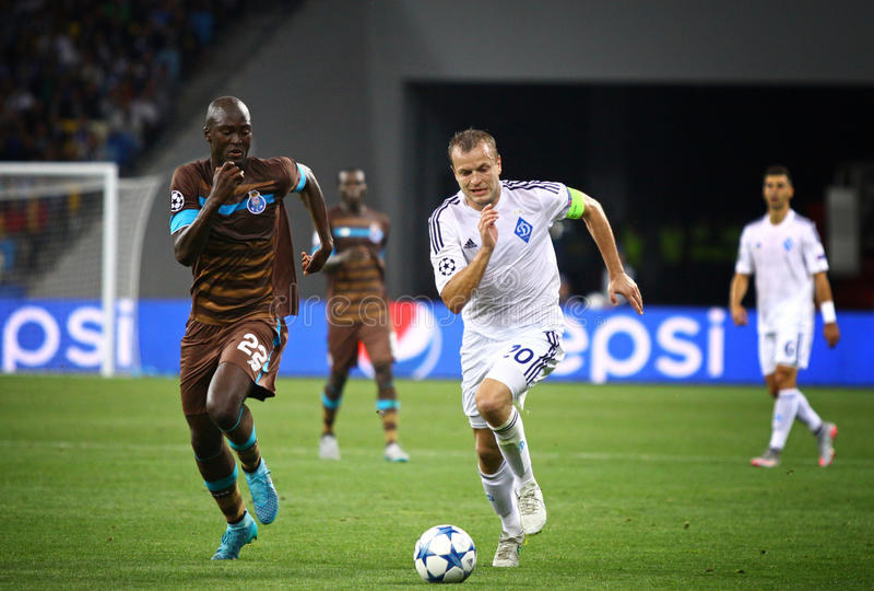 UEFA champions league gemowy dynamo Kyiv vs Porto fotografia royalty free