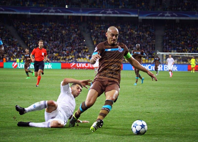 UEFA champions league gemowy dynamo Kyiv vs Porto obrazy royalty free