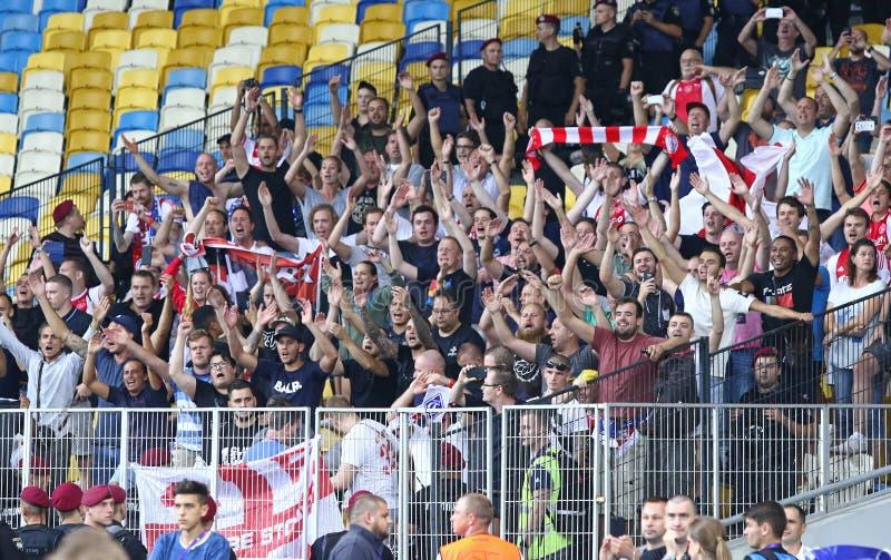 UEFA Champions League play-off: FC Dynamo Kyiv v Ajax stock image