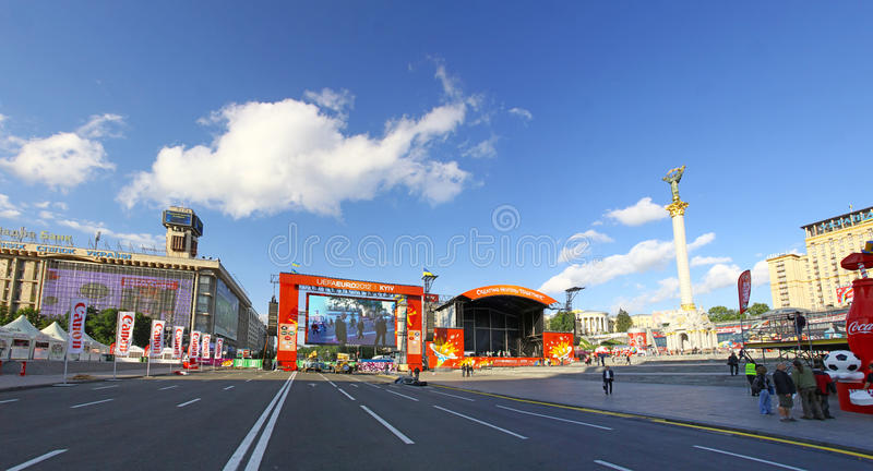 Download UEFA EURO 2012 Fan Zone In Kyiv Editorial Stock Photo - Image of city, europe: 25365733