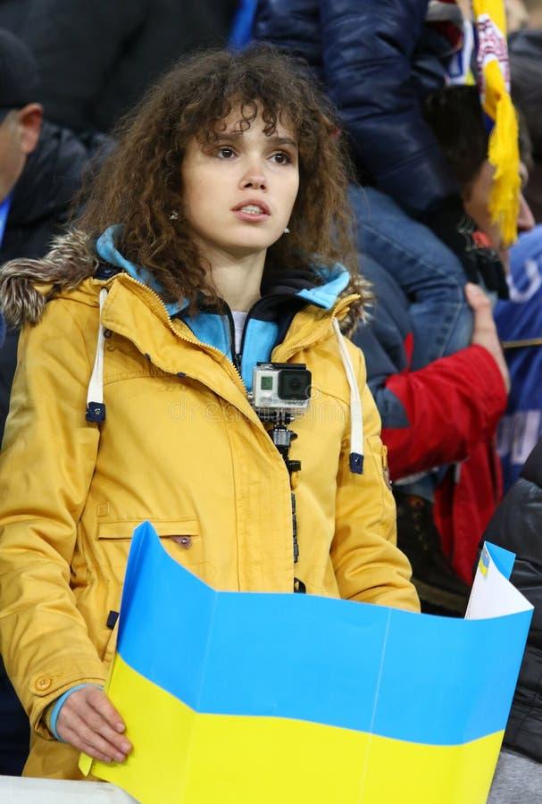 UEFA euro dogrania 2016 gra Ukraina vs Slovenia fotografia royalty free