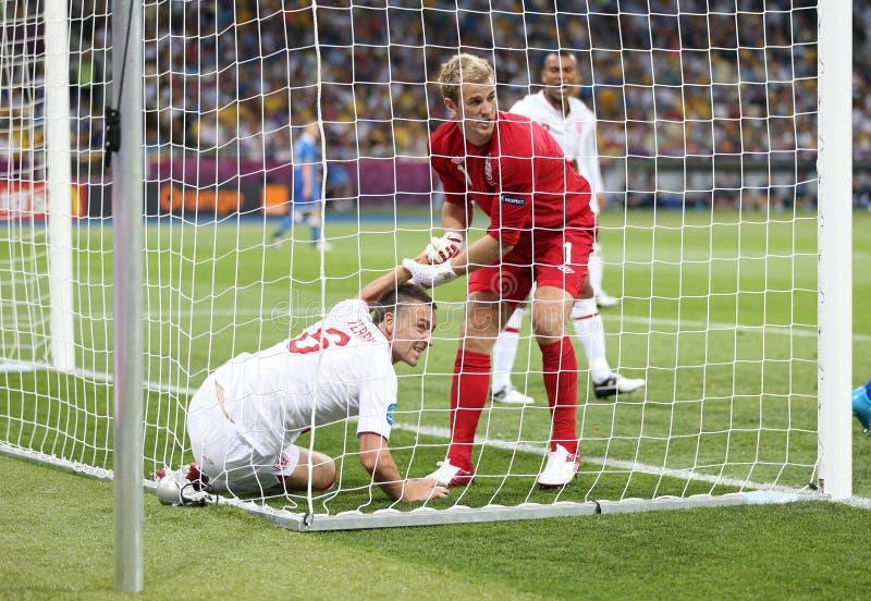 UEFA-EURO 2012 Kwartfinalespel Engeland v Italië royalty-vrije stock afbeelding