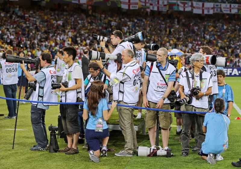 UEFA EURO 2012 Quarter-final game England v Italy royalty free stock photo