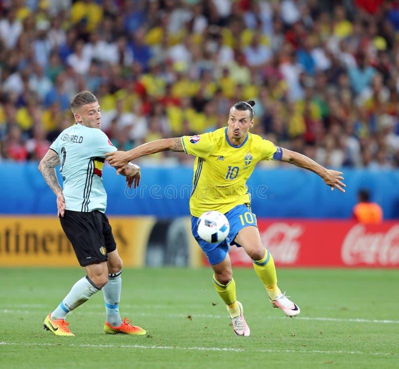 UEFA-EURO 2016: Schweden V Belgien lizenzfreies stockbild