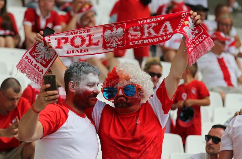UEFA-EURO 2016 spel de Oekraïne v Polen stock fotografie