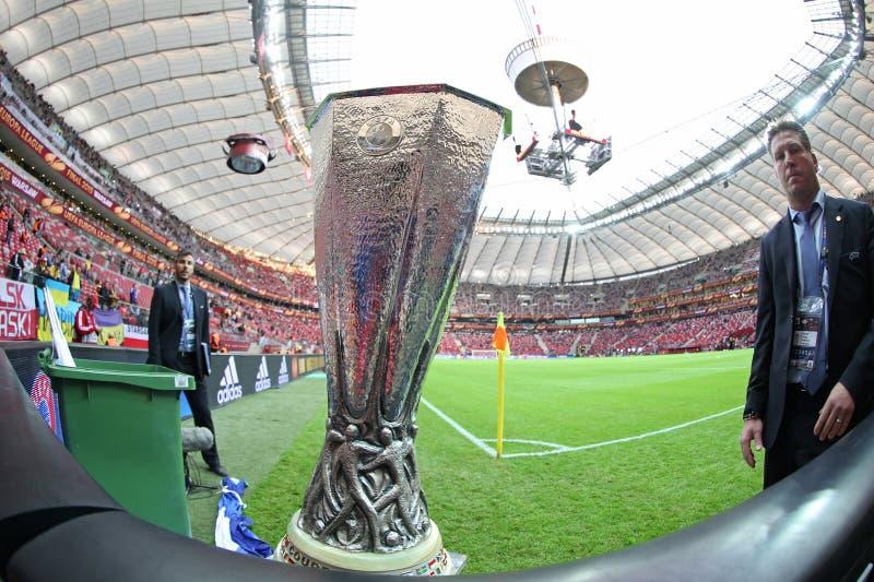 UEFA Europa Laegue trofeum filiżanka obrazy stock