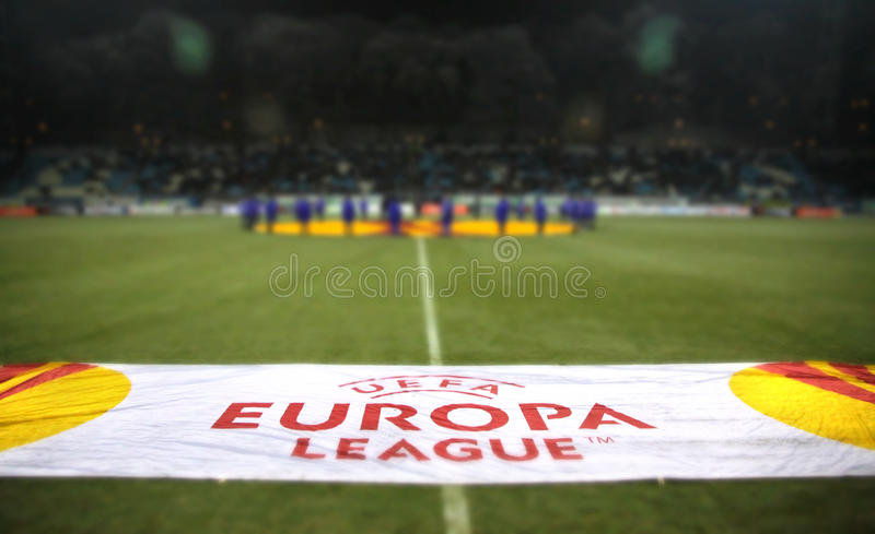 Download UEFA Europa League Banner At The Field Editorial Stock Photo - Image: 26875313
