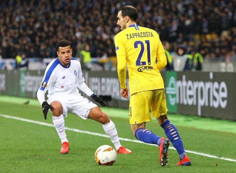 UEFA Europa League: Dynamo Kyiv v Chelsea stock image
