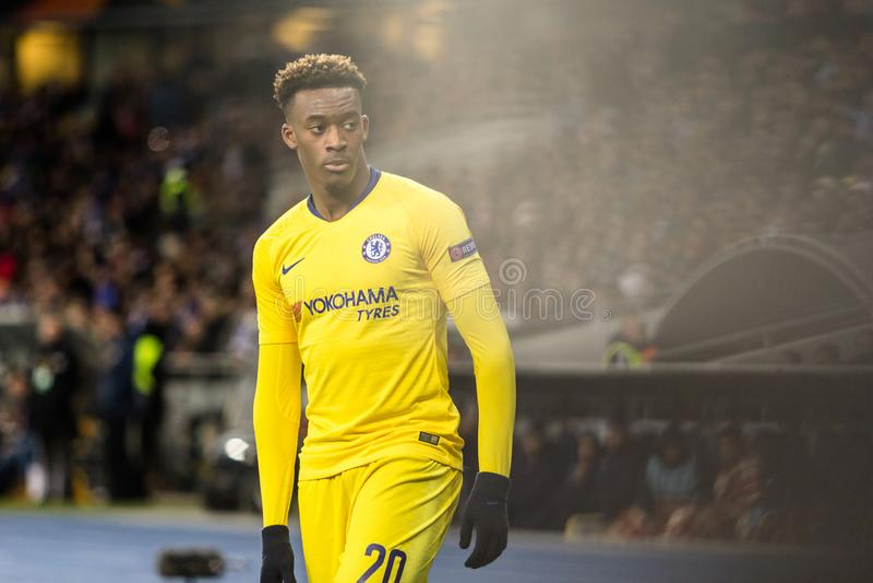 "UEFA Europa League-Fußballspiel Dynamo-Kiew-†""Chelsea, am 14. März 2019 lizenzfreie stockfotografie"