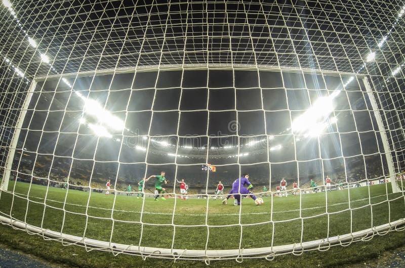 UEFA Europa League game Vorskla Poltava v Arsenal stock photos