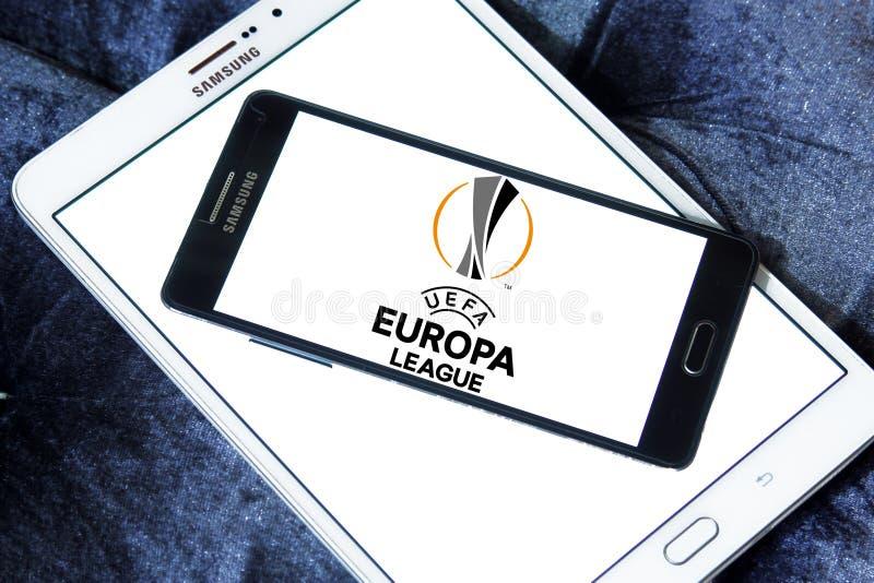 Uefa europa league logo. Logo of uefa europa league on samsung mobile on samsung tablet royalty free stock photography