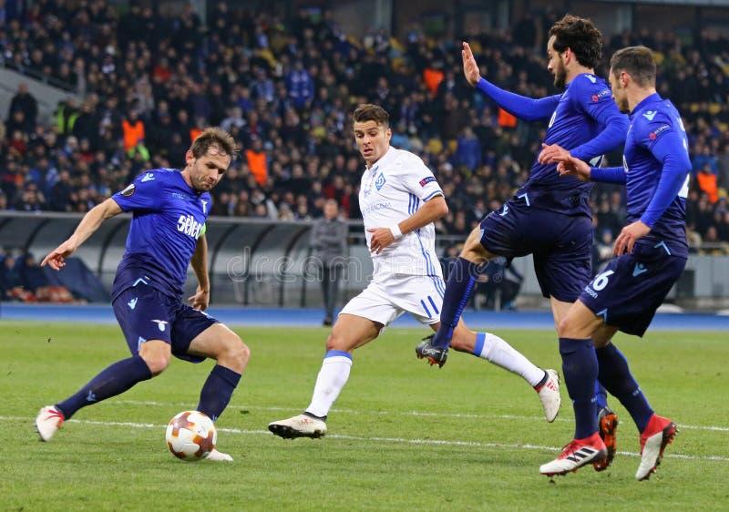 UEFA Europa liga: FC dynamo Kyiv v SS Lazio obraz stock