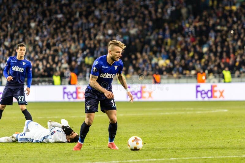 """UEFA-Europa-Ligafußballspiel Dynamo Kyiv-†""""Lazio, am 1. März lizenzfreies stockbild"""