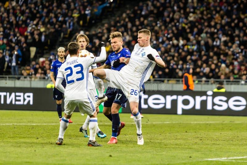 """UEFA-Europa-Ligafußballspiel Dynamo Kyiv-†""""Lazio, am 1. März lizenzfreie stockfotos"""