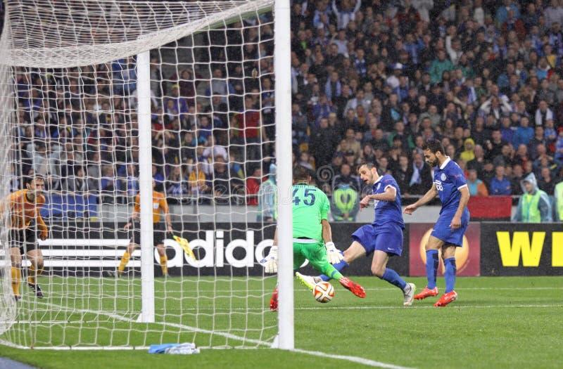 UEFA Europa półfinału Ligowa gra Dnipro vs Napoli obrazy stock