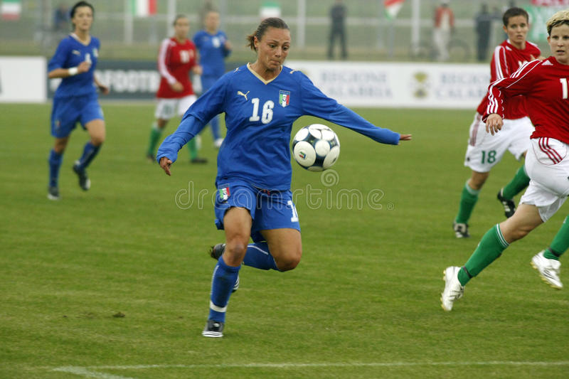 UEFA FEMALE SOCCER CHAMPIONSHIP 2009,ITALY-HUNGARY stock photo