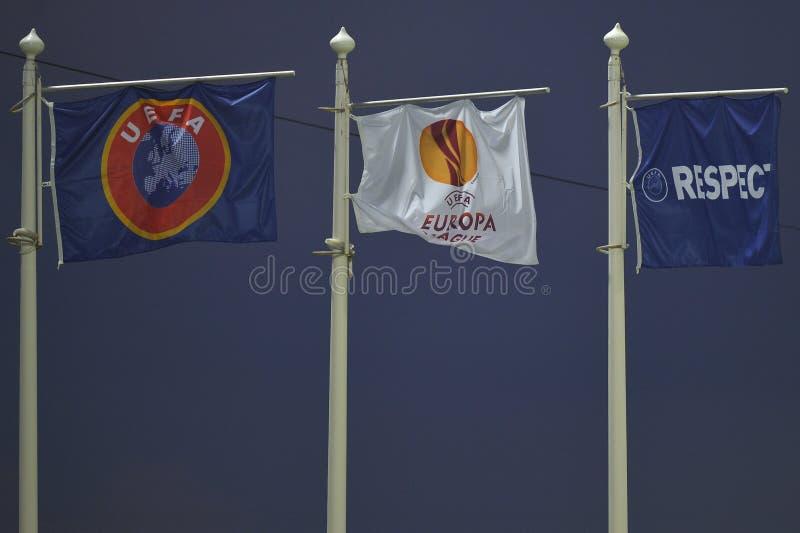 UEFA-Flaggen stockbilder